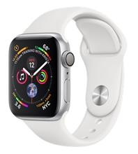 Apple Watch 4 GPS 40mm Silver Aluminum Case With White Sport Band